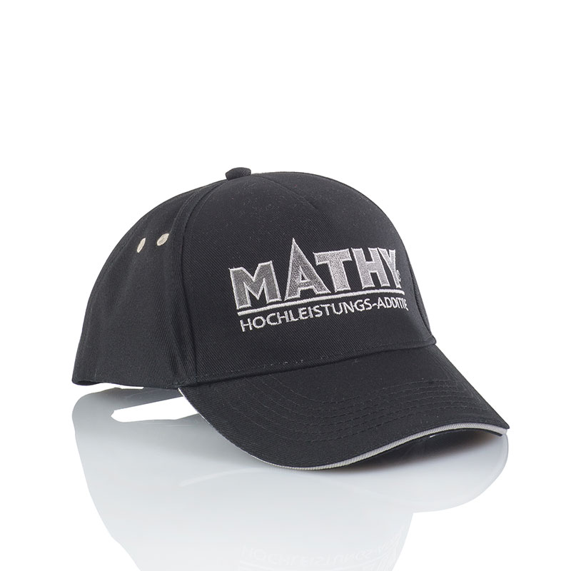 MATHY-Baseballcap Black / White