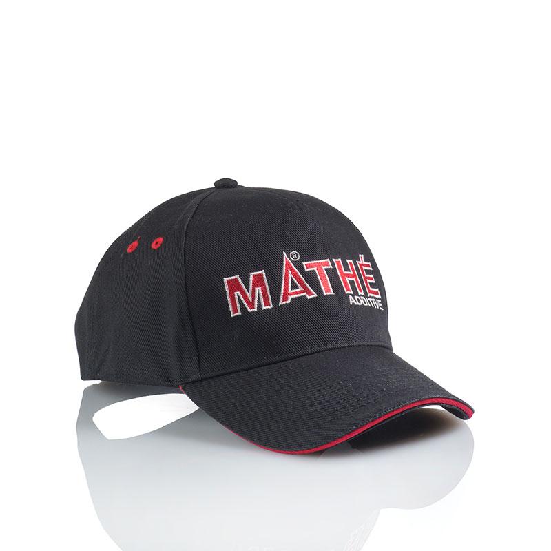 MATHÉ-Baseballcap Black / Red