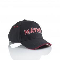MATHÉ-Baseballcap Schwarz-Rot