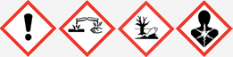 Gefahrgut: GHS057, GHS05, GHS09 und GHS08