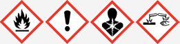 Gefahrgut GHS02, GHS07, GHS08 und GHS05
